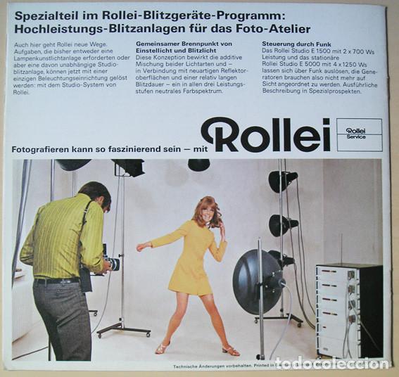 Cámara de fotos: Rollei Computerblitzgeräte und Elektronenblitzgeräte, Werbebroschüre,1969 - Folleto equipos de flash - Foto 3 - 66807186