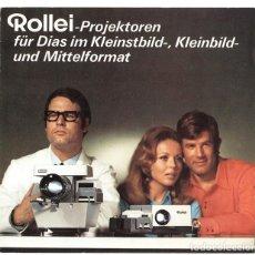 Cámara de fotos: ROLLEI-PROJEKTOREN FÜR DIAS IM KLEINSTBILD-, KLEINBILD- UND MITTELFORMAT: P35, P11 (1970). Lote 66808198