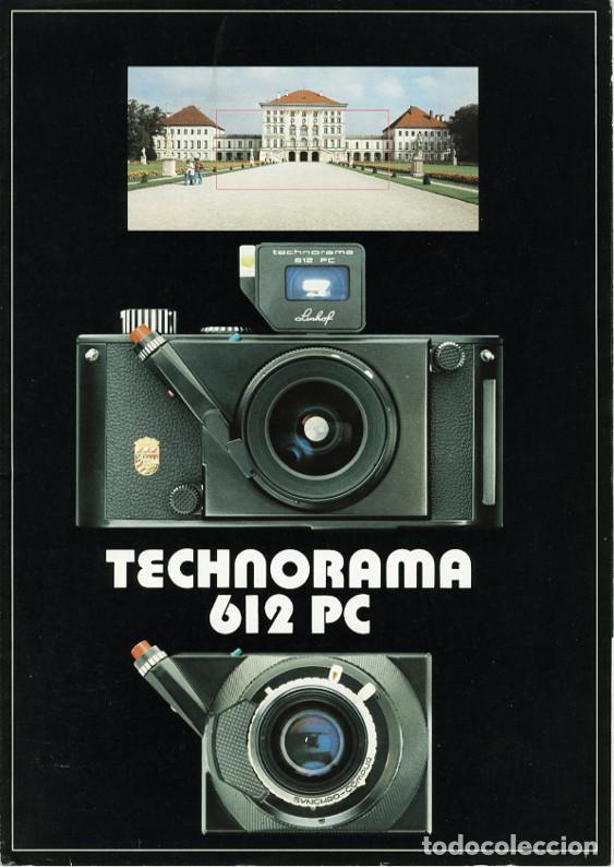 LINHOF TECHNORAMA 612 PC – FOLLETO DE 1985 (Cámaras Fotográficas - Catálogos, Manuales y Publicidad)