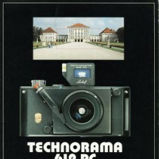 Cámara de fotos: LINHOF TECHNORAMA 612 PC – FOLLETO DE 1985. Lote 67263049