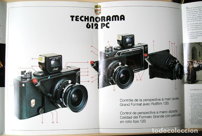 Cámara de fotos: Linhof Technorama 612 PC – folleto de 1985 - Foto 2 - 67263049