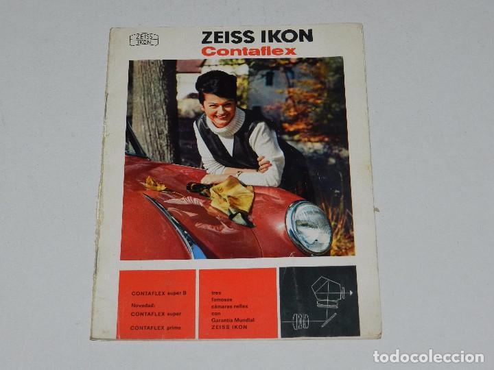 (M) CATALOGO CAMARA DE FOTOGRAFIAS ZEISS IKON CONTAFLEX , ILUSTRADO (Cámaras Fotográficas - Catálogos, Manuales y Publicidad)