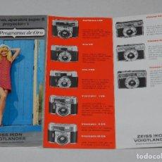 Cámara de fotos: (M) CATALOGO CAMARA DE FOTOGRAFIAS ZEISS IKON VOIGTLANDER , ILUSTRADO. Lote 67600893