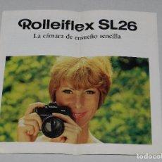 Cámara de fotos: (M) CATALOGO CAMARA DE FOTOGRAFIAS ROLLEIFLEX SL26, ILUSTRADO. Lote 67601245