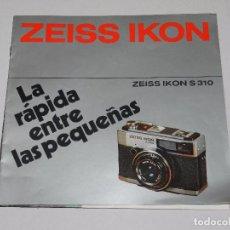 Cámara de fotos: (M) CATALOGO CAMARA DE FOTOGRAFIAS ZEISS IKON S 310, ILUSTRADO. Lote 67602761