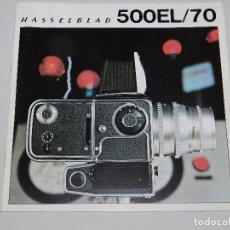 Cámara de fotos: (M) CATALOGO CAMARA DE FOTOGRAFIAS HASSELBLAD 500EL/70 , ILUSTRADO. Lote 67603421