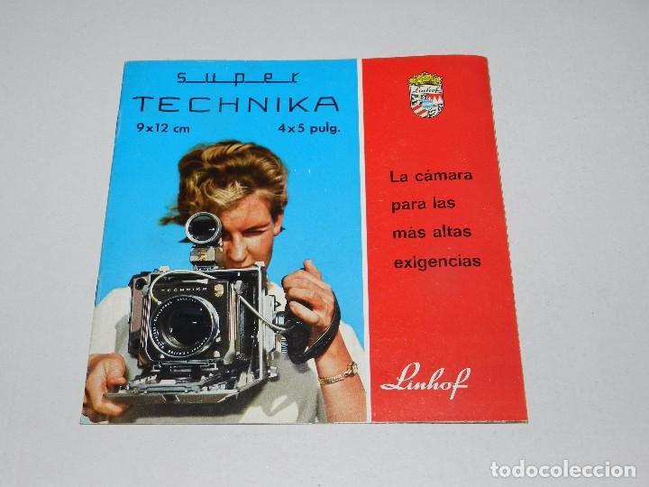 (M) CATALOGO CAMARA DE FOTOGRAFIAS LINHOF SUPER TECHNIKA (Cámaras Fotográficas - Catálogos, Manuales y Publicidad)