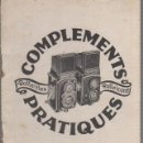 Cámara de fotos: COMPLEMENTS PRATIQUES ROLLEIFLEX - ROLLEICORD. . Lote 67609837