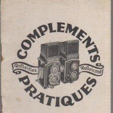 Cámara de fotos - COMPLEMENTS PRATIQUES ROLLEIFLEX - ROLLEICORD. - 67609837