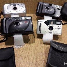 Cámara de fotos: LOTE 4 CÁMARAS FOTOGRÁFICAS CON SU ESTUCHE - SIN COMPROBAR / VER FOTOS.. Lote 67683425