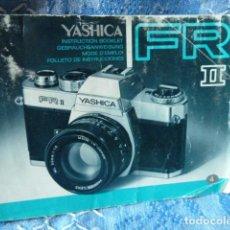 Cámara de fotos: YASHICA FRV II -MANUAL DE INTRUCCIONES. Lote 68841553