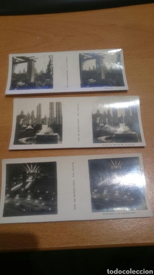 LOTE DE 3 FOTOS ESTETOSCOPICAS DE BARCELONA DE RELLEV (Cámaras Fotográficas - Visores Estereoscópicos)
