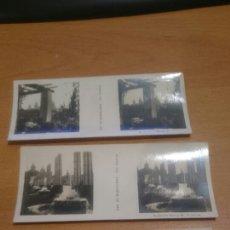 Cámara de fotos: LOTE DE 3 FOTOS ESTETOSCOPICAS DE BARCELONA DE RELLEV. Lote 70167650