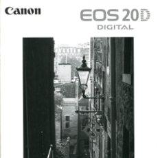 Cámara de fotos: CATÁLOGO CÁMARA CANON EOS 20D JAPONÉS. Lote 71027545