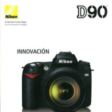 Câmaras de fotos: CATÁLOGO CÁMARA NIKON D90. Lote 71028121