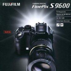Cámara de fotos: CATÁLOGO CÁMARA FUJIFILM FINEPIX S9600. Lote 71084493