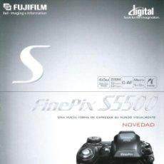 Cámara de fotos: CATÁLOGO CÁMARA FUJIFILM FINEPIX S5500. Lote 71084793