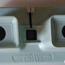 Cámara de fotos: VISOR STEREOSCOPE LESTRADE. SIMPLEX. . Lote 72211075