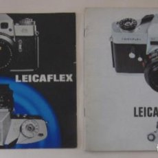Cámara de fotos: DOS CATALOGOS LEICAFLEX. Lote 73734707