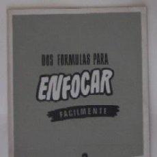 Cámara de fotos: DOS FORMAS PARA ENFOCAR FACILMENTE. Lote 73737319