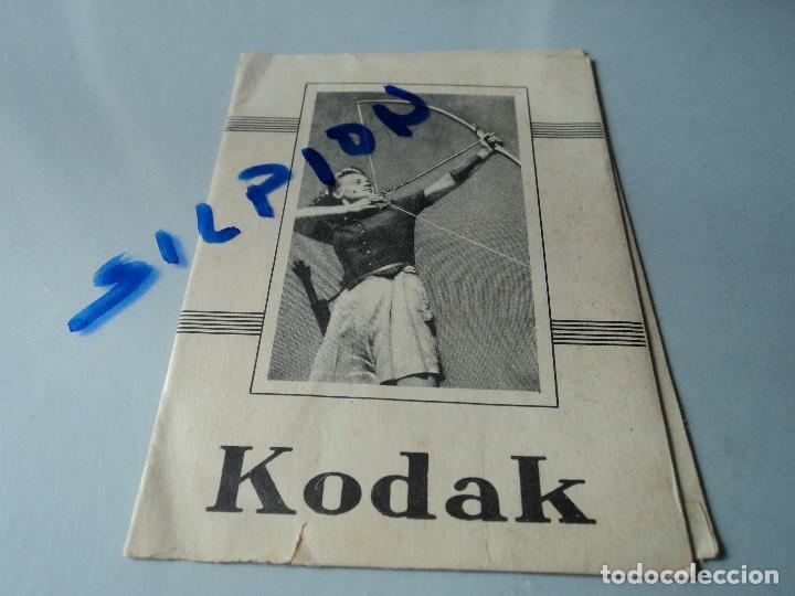SOBRE - SUS FOTOS CON KODAK (Cámaras Fotográficas - Catálogos, Manuales y Publicidad)