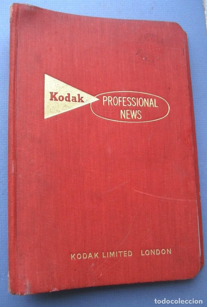 9 REVISTAS KODAK PROFESSIONAL NEWS EN SU FICHERO 1960 A 1962 (EN INGLES) (Cámaras Fotográficas - Catálogos, Manuales y Publicidad)