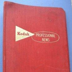 Cámara de fotos: 9 REVISTAS KODAK PROFESSIONAL NEWS EN SU FICHERO 1960 A 1962 (EN INGLES). Lote 76798755