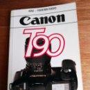 Cámara de fotos: HOVE FOUNTAIN BOOKS CANON T90 DE RICHARD HUNECKE LIBRO GUIDE, EN INGLES. Lote 78349117