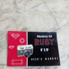 Cámara de fotos: MAMIYA 35. RUBY. MANUAL.. Lote 78640366