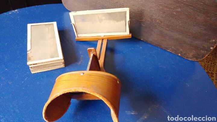 VISOR ESTEREOSCOPICO CON 11 CRISTALES 3D. S.XIX (Cámaras Fotográficas - Visores Estereoscópicos)