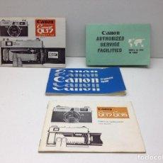Cámara de fotos - MANUAL CAMARA FOTOGRAFICA CANON CANONET QL17/QL19 - 79831705