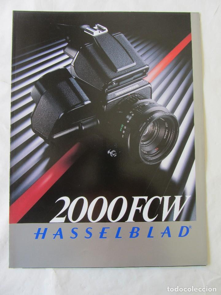 TRIPTICO PUBLICIDAD HASSELBLAD 2000 FCW. 1985. EN CASTELLANO (Cámaras Fotográficas - Catálogos, Manuales y Publicidad)