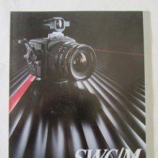Cámara de fotos: TRIPTICO PUBLICIDAD HASSELBLAD SWC/M. 1985. EN CASTELLANO. Lote 80326573