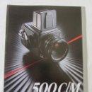 Cámara de fotos: TRIPTICO PUBLICIDAD HASSELBLAD 500C/M. 1985. EN CASTELLANO. Lote 80326709