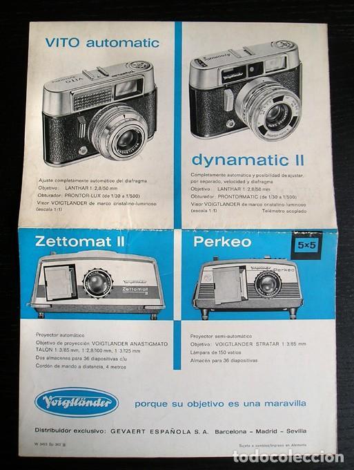 Cámara de fotos: Voigtländer - Díptico cámaras y proyectores en español – años 1960 - Foto 3 - 80411385