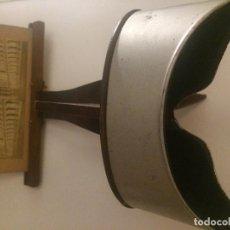 Cámara de fotos: VISOR ESTEREOSCOPIO DEL S XIX, REALIZADO EN MADERA Y LATÓN.. Lote 81245480