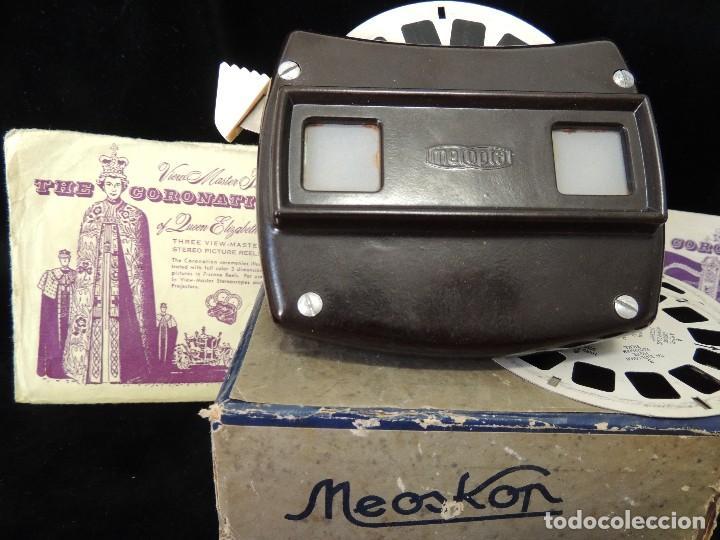 Cámara de fotos: visor meopta 1940 con discos coronacion isabel II - Foto 2 - 82103780