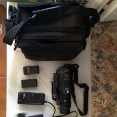 Cámara de fotos: CAMARA DE VIDEO JVC VHS + CARGADOR + BATERÍAS + MALETÍN. Lote 99657724