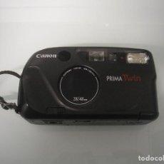 Cámara de fotos: CÁMARA FOTOGRÁFICA CANON LENS 28/48 MM - PRIMA TWIN - CON FUNDA DE PIEL ORIGINAL. Lote 83009324