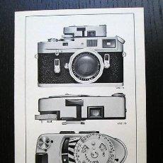 Cámara de fotos: LEICA · EXPOSÍMETRO LEICAMETER MR – FOLLETO PROMOCIONAL EN ESPAÑOL (1969). Lote 217565753