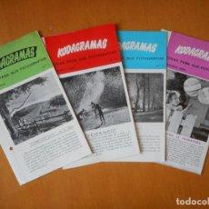 Cámara de fotos: KODAGRAMAS, IDEAS PARA SUS FOTOGRAFÍAS. 1954 - 1955. CUATRO FOLLETOS TRÍPTICO DE LA CASA KODAK. Lote 83612616