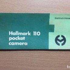 Cámara de fotos: FOLLETO ORIGINAL INSTRUCCIONES HALLMARK 110 POCKET CAMERA. Lote 84529588