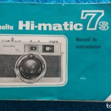 Cámara de fotos: MANUAL DE INSTRUCCIONES MINOLTA HI-MATIC 7 S. Lote 86061360