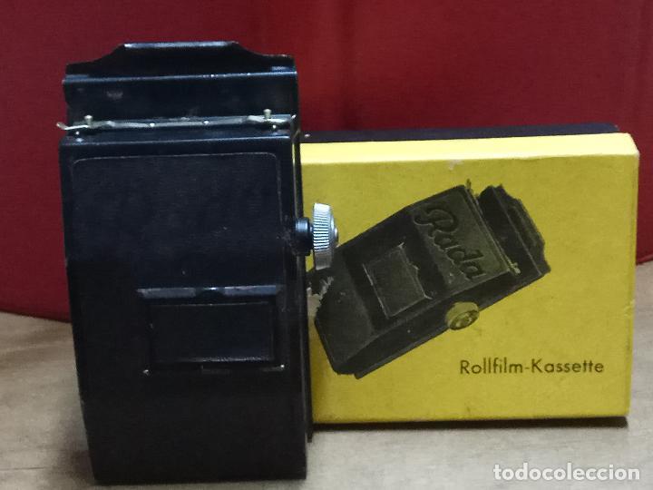 ROLLFILM KASSETE RADA, FORMATO 6 X 6 UNID. 4 X 6 . MADE IN GERMANY (Cámaras Fotográficas - Otras)