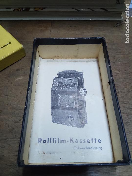 Cámara de fotos: ROLLFILM KASSETE RADA, FORMATO 6 X 6 UNID. 4 X 6 . MADE IN GERMANY - Foto 17 - 86270312