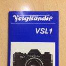 Cámara de fotos: INSTRUCCIONES VOIGTLANDER VSL1. Lote 87398664