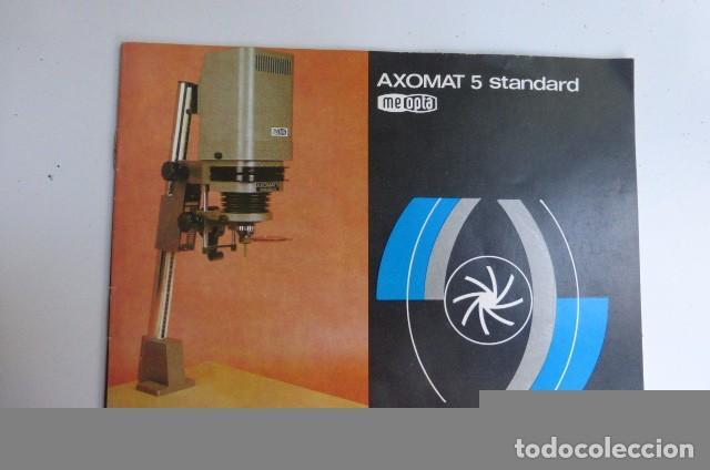 INSTRUCCIONES ORIGINALES AMPLIADORA AXOMAT 5 STANDARD..CHECOSLOVAQUIA...AÑOS 80-90 (Cámaras Fotográficas - Catálogos, Manuales y Publicidad)