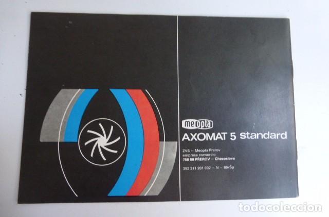 Cámara de fotos: Instrucciones originales Ampliadora Axomat 5 Standard..checoslovaquia...años 80-90 - Foto 2 - 87994044