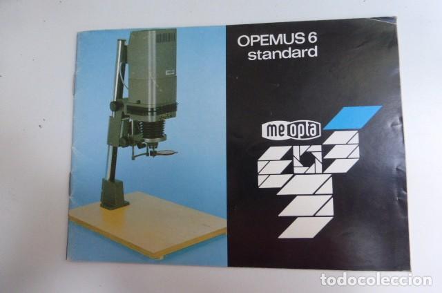 INSTRUCCIONES ORIGINALES AMPLIADORA OPEMUS 6...AÑOS 90. (Cámaras Fotográficas - Catálogos, Manuales y Publicidad)