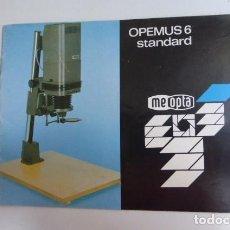 Cámara de fotos: INSTRUCCIONES ORIGINALES AMPLIADORA OPEMUS 6...AÑOS 90.. Lote 87994496